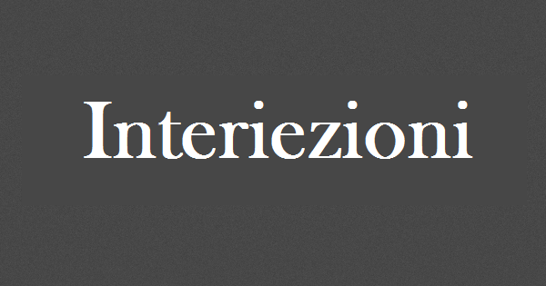 Interiezioni
